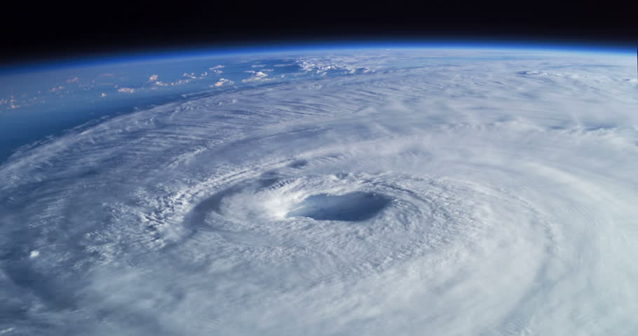 Hurricane Isabel View From Space to Earth Animation, 4K some elements furnished by NASA images
