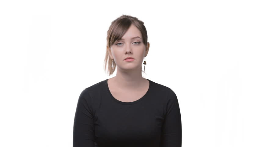 Bored woman with unhappy face | Shutterstock HD Video #26491259