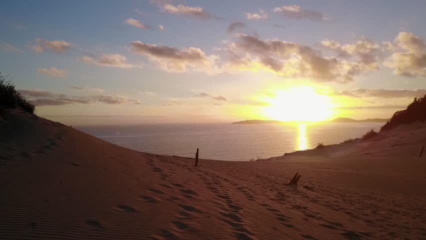 Sunrise Over Rainbow Beach | Drone Aerial Footage | Shutterstock HD Video #26570096