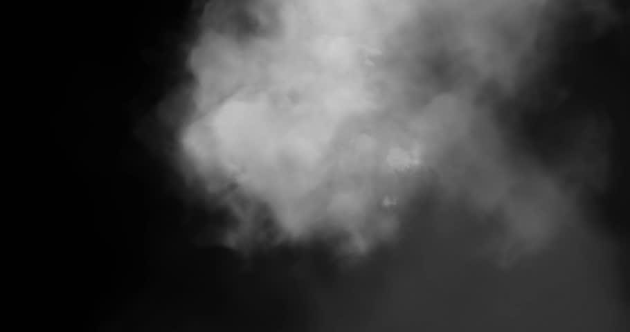 Smoke To Face 2 / Real live action smoke. Smoke comes into face.
