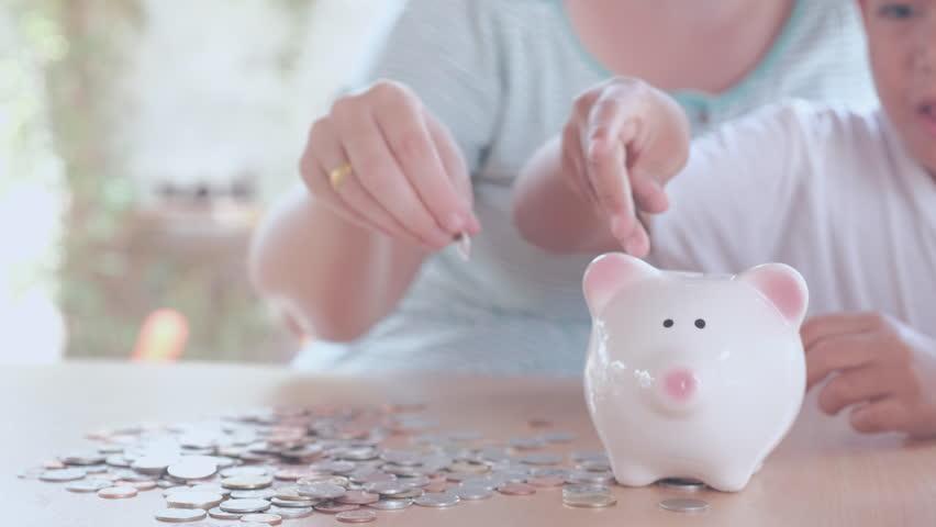 Saving money, selective focus, vintage  | Shutterstock HD Video #26577602