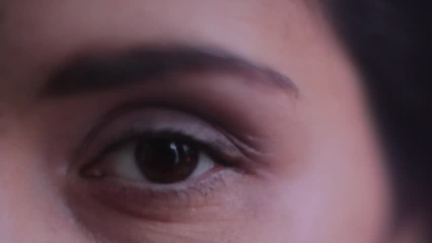 These girl's eyes close up. | Shutterstock HD Video #26596223