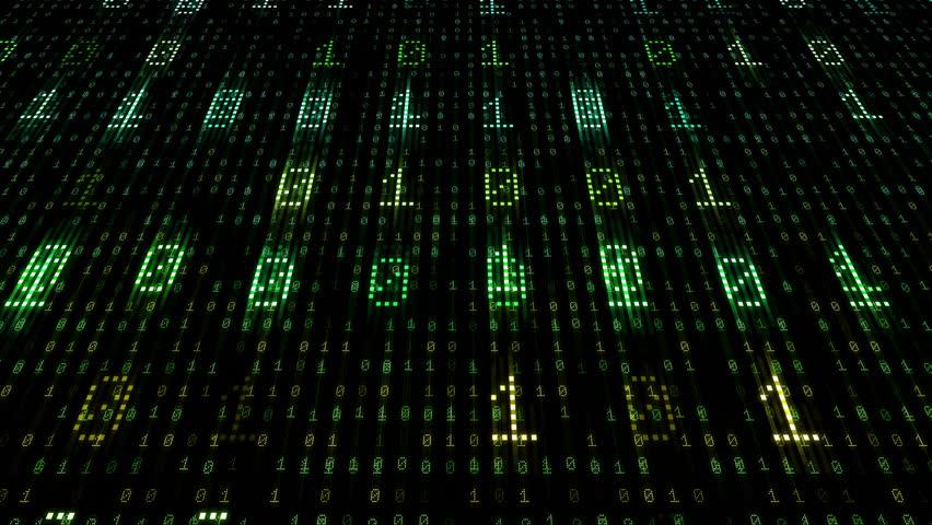 Digital world data space number text.   Shutterstock HD Video #26609141