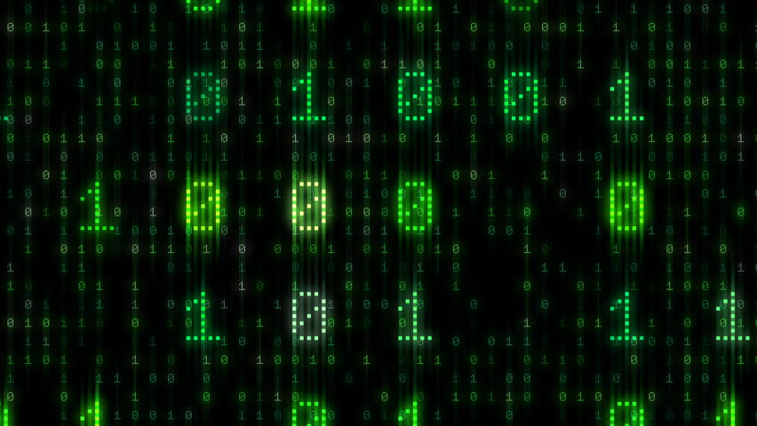 Digital world data space number text.   Shutterstock HD Video #26609153