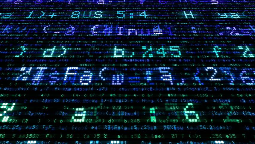 Digital world data space number text.   Shutterstock HD Video #26609171