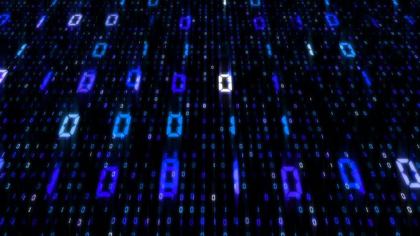Digital world data space number text. | Shutterstock HD Video #26609186
