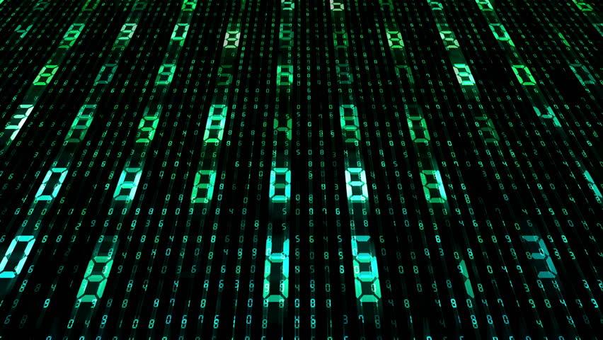 Digital world data space number text. | Shutterstock HD Video #26609204