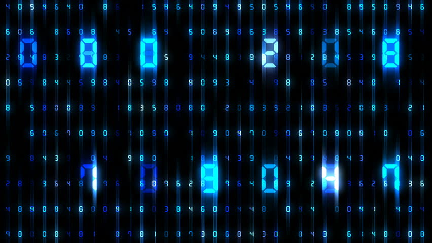 Digital world data space number text.   Shutterstock HD Video #26609267