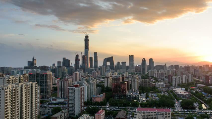Time Lapse - Beijing Skyline at sunset,Beijing,China.   Shutterstock HD Video #26616917