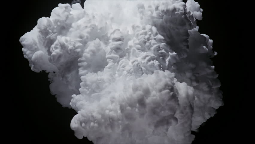 X-shaped white cloud effect billowing toward viewer   Shutterstock HD Video #26625346