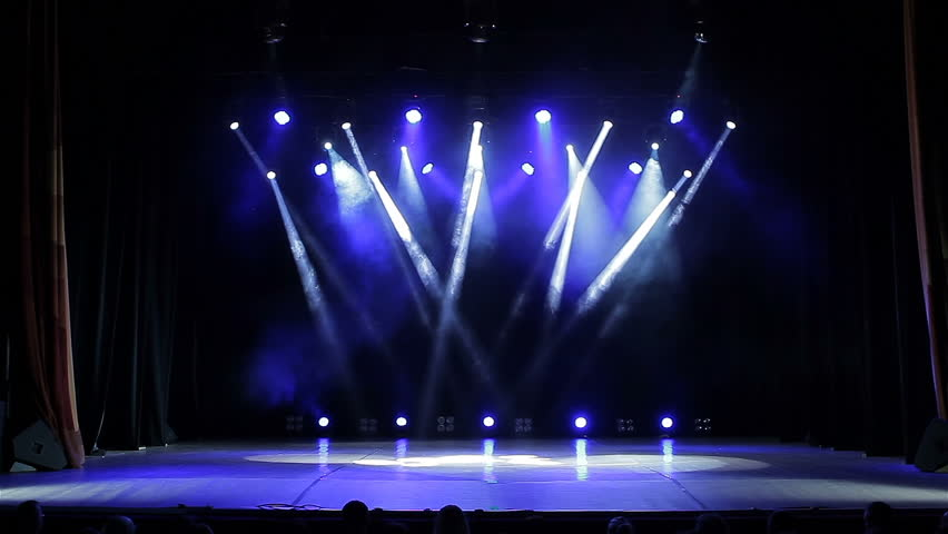 Stage Lights In A Concert Empty