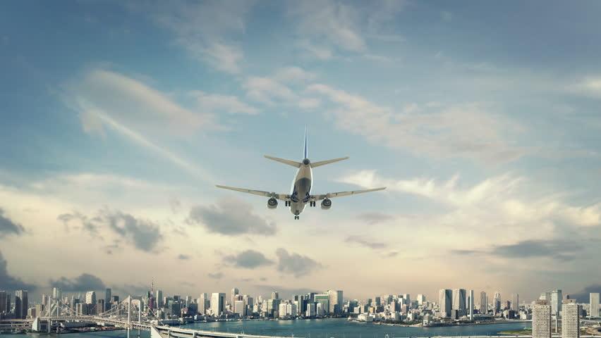 Airplane Landing Tokyo Japan new first