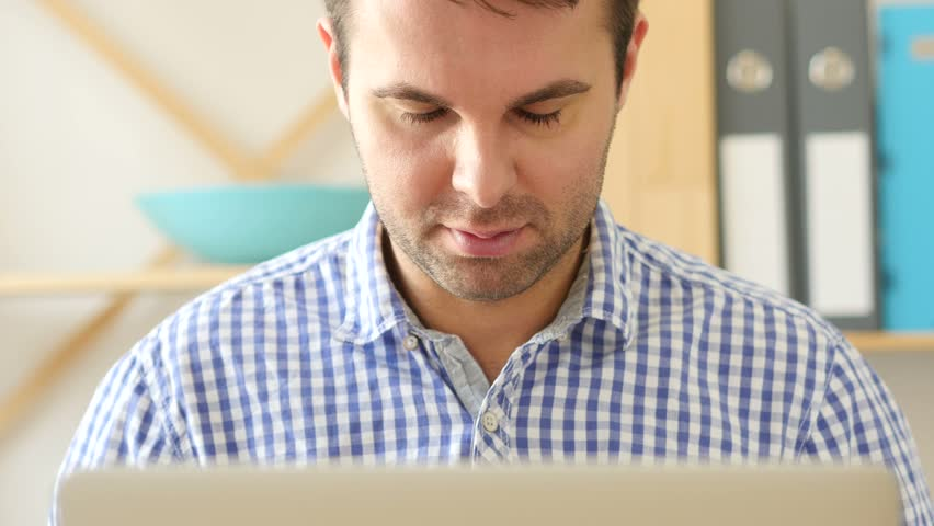 Happy Man Working on Laptop | Shutterstock HD Video #26648479