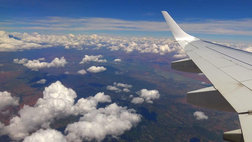 Flight of aircraft over Tanzania. Africa. #26657098