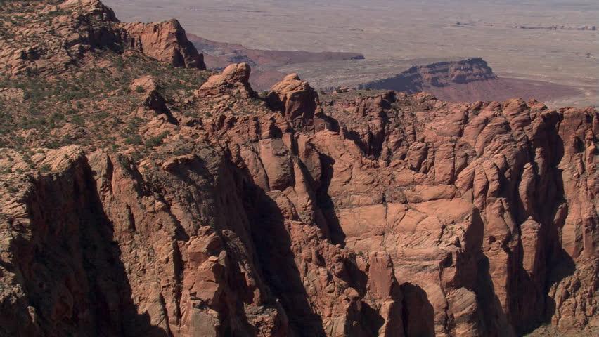 Flight approaching Arizona's Echo Cliffs, with pull-back   Shutterstock HD Video #26659903