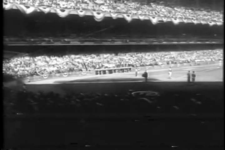 1960s: Los Angeles Dodgers pitcher Sandy Koufax sets a strikeout record during the 1963 World Series, at Dodger Stadium, in Los Angeles, California.