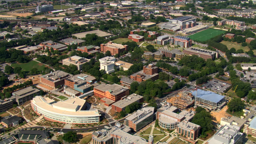 Flying over Georgia Tech campus in Atlanta. Shot in 2007.