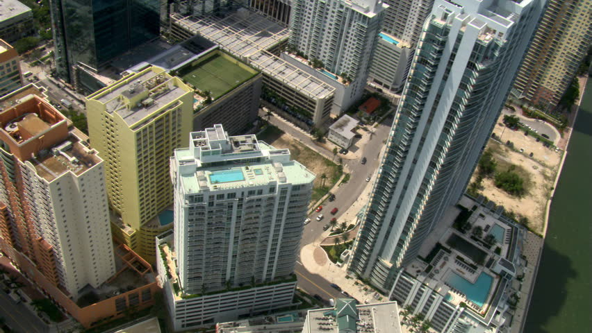 Looking down onto downtown Miami. Shot in 2007. #26704705