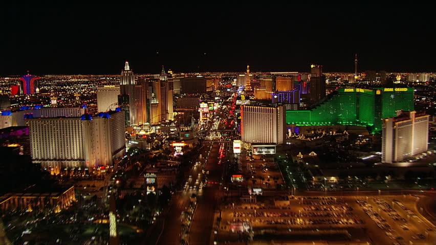 High-speed flight north over The Strip in Las Vegas. Shot in 2005. | Shutterstock HD Video #26704825