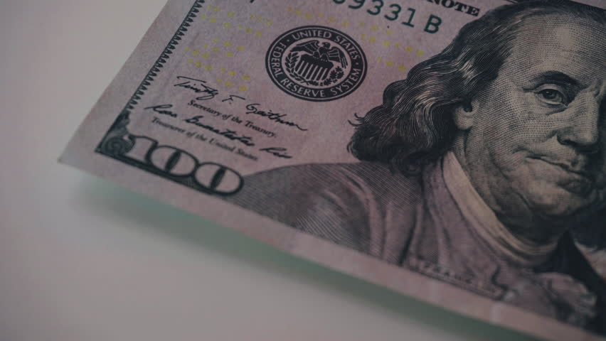 Counting brand new 100 dollar bills close-up. New barkoskie U.S. banknotes. Global crisis in America.  | Shutterstock HD Video #26725105