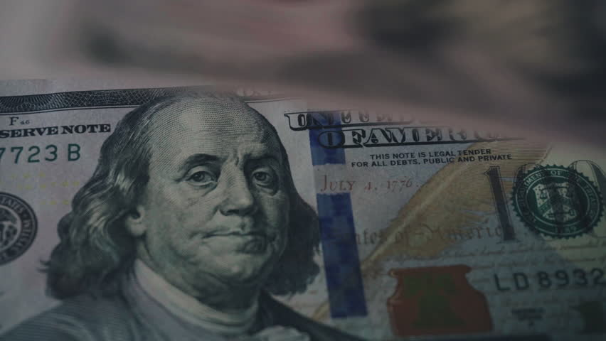 Counting brand new 100 dollar bills close-up. New barkoskie U.S. banknotes. Global crisis in America. Downscale from 4k  | Shutterstock HD Video #26725351