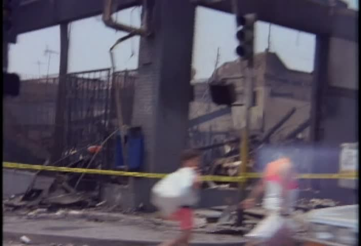 LOS ANGELES-CIRCA APRIL/MAY 1992-Burned out buildings during the LA riots in 1992. | Shutterstock HD Video #2677712