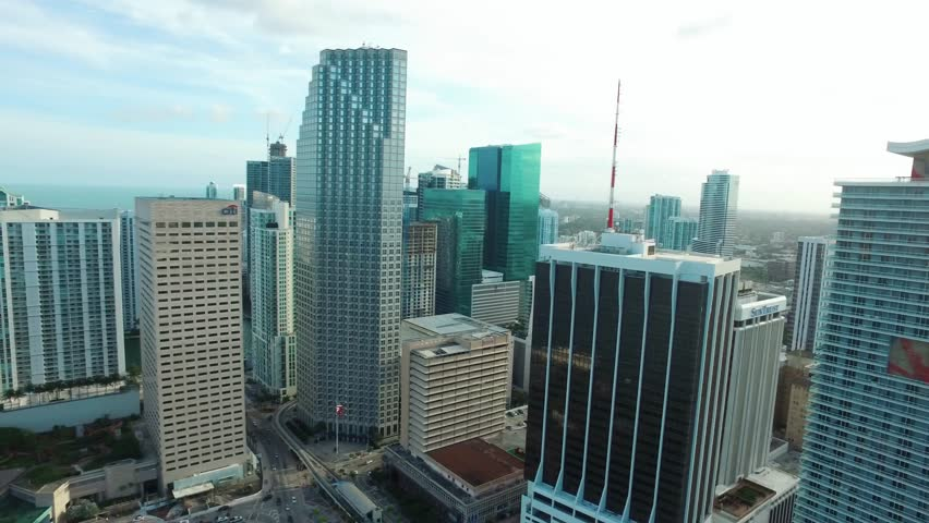 Miami Downtown. Cinematic Aerial, drone shot. Brickell view from above / Miami, Florida /  03.03.2017 | Shutterstock HD Video #26778292