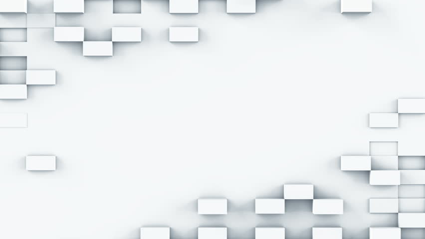 White parallelepipeds. Abstract geometric seamless loop background. Computer generated smooth 3D render animation 4k UHD (3840x2160) | Shutterstock HD Video #26848030