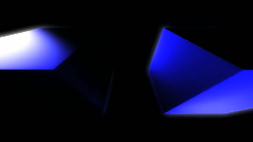 Abstract CGI motion graphics and animated background with blue cubes | Shutterstock HD Video #2685902