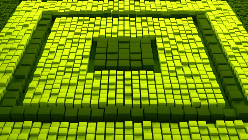 Huge amount of randomly moved cubes with different size. 3D render abstract background. Massive of cube geometry. Loopable sequence. | Shutterstock HD Video #26872945