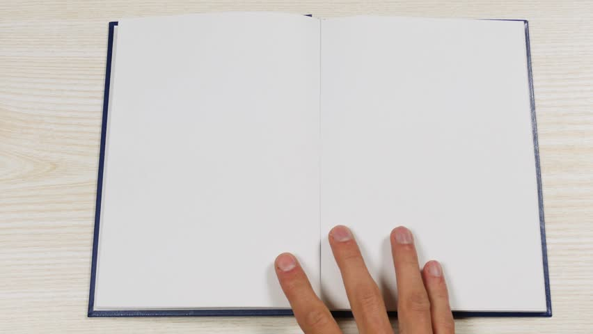 Top view of the opening blank book. Opening a book with blank pages.    Shutterstock HD Video #26889952