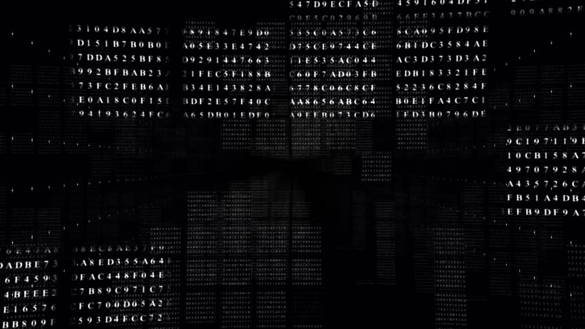 Abstract digital intro.BLACK.Flying fast through data number screen boxes.Technological background. Type2   Shutterstock HD Video #26891005
