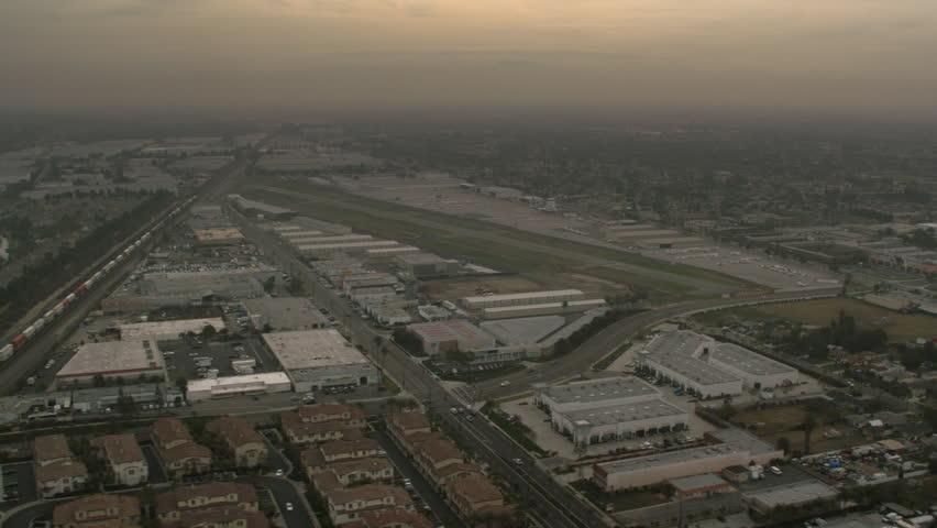 Approaching Fullerton Municipal Airport, Los Angeles | Shutterstock HD Video #26899084