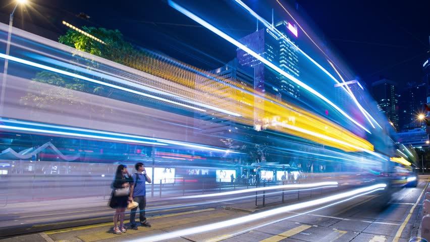 Central, Hong Kong,18 May 2017 -: Times lapse of Hong Kong traffic at night | Shutterstock HD Video #26994505