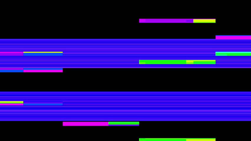 Abstract Colorful Pixel Error Glitch Video Damage on Black Background   Shutterstock HD Video #27001645