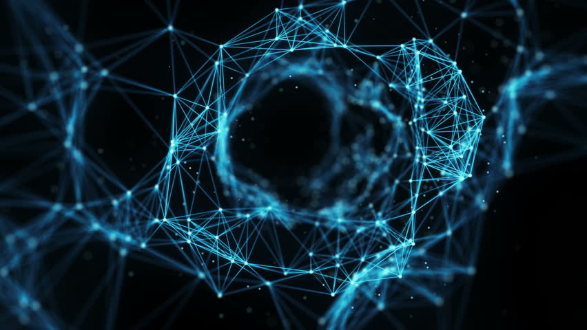 A Flying Through Digital Data Tunnel, made of digital nodes and connection paths. This animation can be used for visuals, vj, light presentations or as motion background. Alpha Matte. 4k