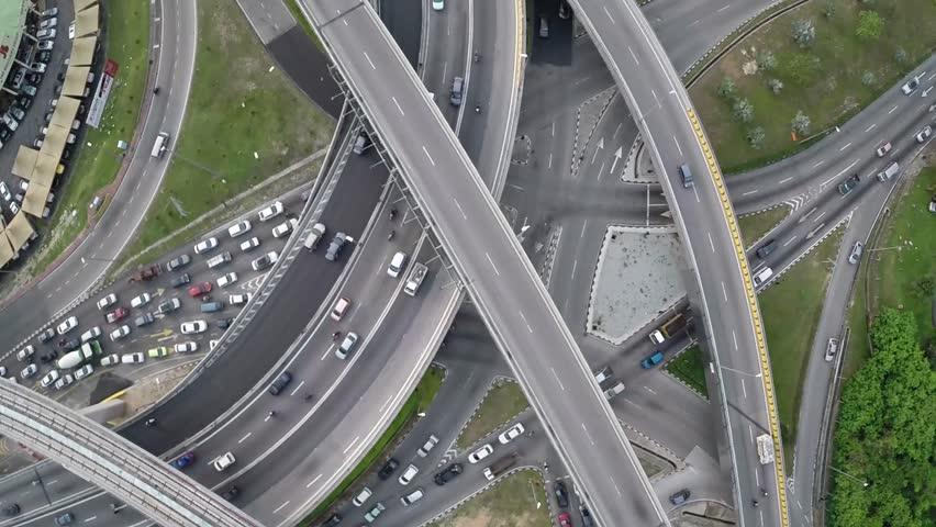 Ariel of Kuala Lumpur Traffic