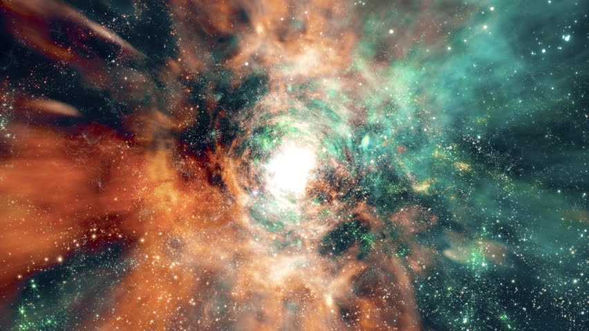 Space 2240: Flying through star fields and galaxies in deep space (Loop). #27123985