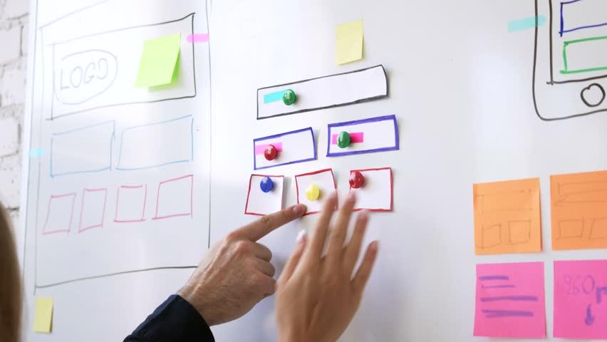 Web designers planning new website | Shutterstock HD Video #27128593
