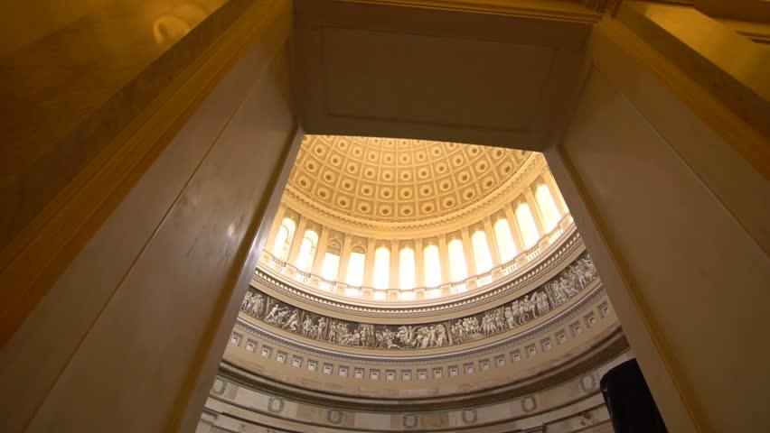 Us Capitol building inside, dome - Washington DC, United States