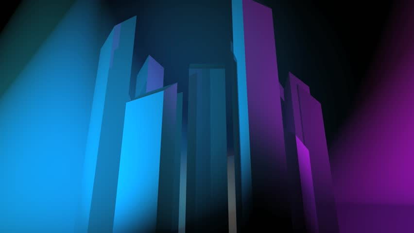 Abstract CGI motion graphics and animated background with moving colorful bars | Shutterstock HD Video #2725700