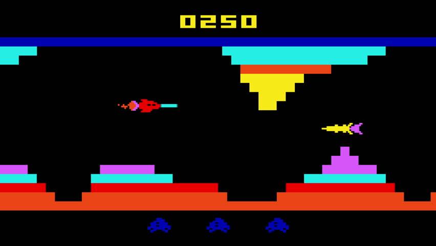 8-bit retro video game loop 30 FPS