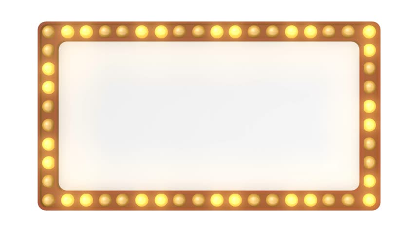 Marquee light board sign retro on white background. 3D rendering | Shutterstock HD Video #27300112