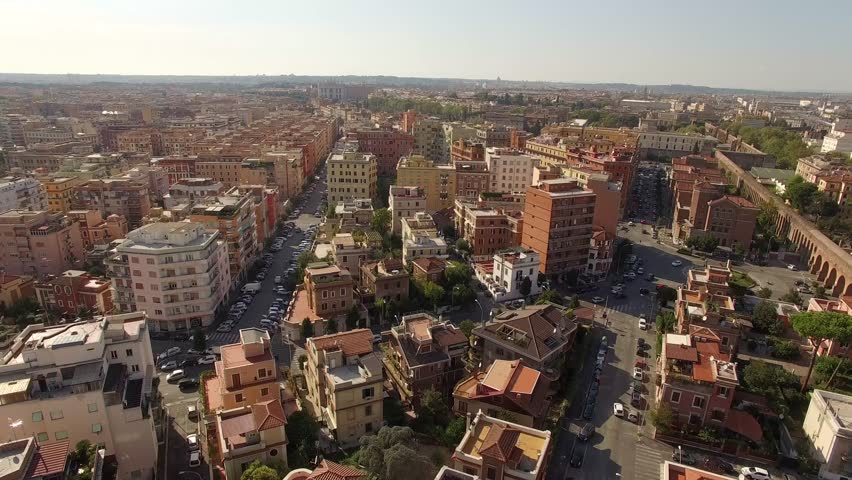 Aerial shot of the city of Rome, Italy.   Shutterstock HD Video #27318466