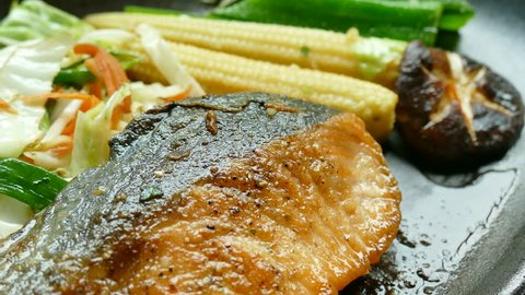 Grilled Salmon meat steak