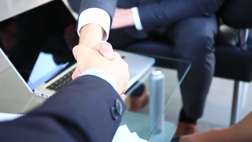 business handshake - two businessmen shaking their hands  #27360361