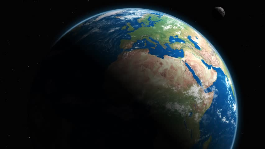 Rotating Planet Earth And Moon Motion Background | Shutterstock HD Video #27403444