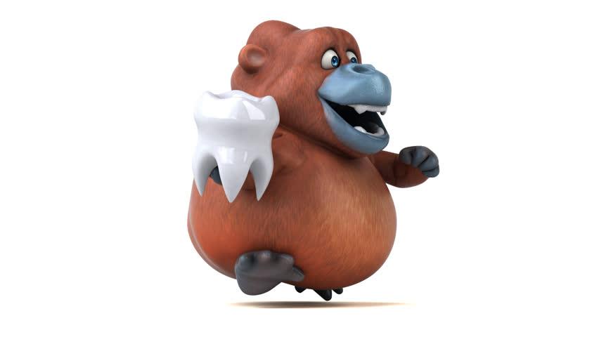 Fun orang outan - 3D Animation   Shutterstock HD Video #27411202