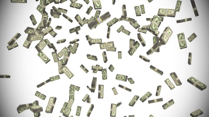 Money stacks bundles falling dollars financial win US USA American currency tax   Shutterstock HD Video #27418660