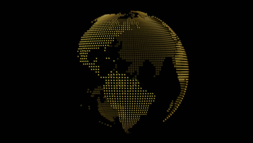 Globe Made Of Golden Spheres Loop   Shutterstock HD Video #2743940